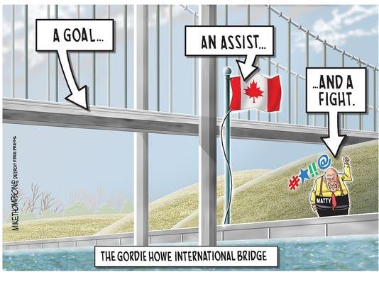 The Gordie Howe bridge