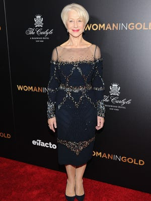 """NEW YORK, NY - MARCH 30:  Actress Helen Mirren attends the """"Woman In Gold"""" New York premiere at The Museum of Modern Art on March 30, 2015 in New York City.  (Photo by Andrew Toth/FilmMagic) ORG XMIT: 544385039 ORIG FILE ID: 468181358"""