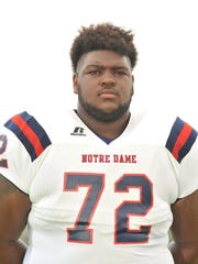 Notre Dame High School's Tyler Shelvin is the state's
