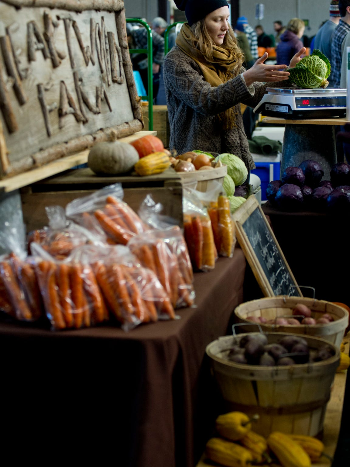 The Burlington winter farmers market, seen here in