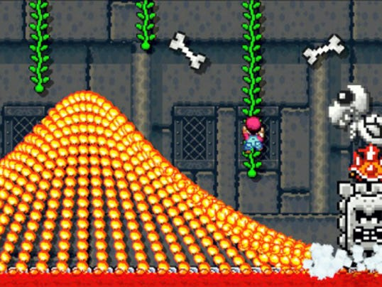 "In ""Super Mario Maker,"" players can create their own levels by placing obstacles and enemies where they choose. Once the player has beaten the level, it can be uploaded to share with others online. (Nintendo via AP)"