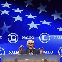 Democratic presidential candidate, Sen. Bernie Sanders, I-Vt. speaks at the National Association of Latino Elected and Appointed Officials on June 19 in Las Vegas.