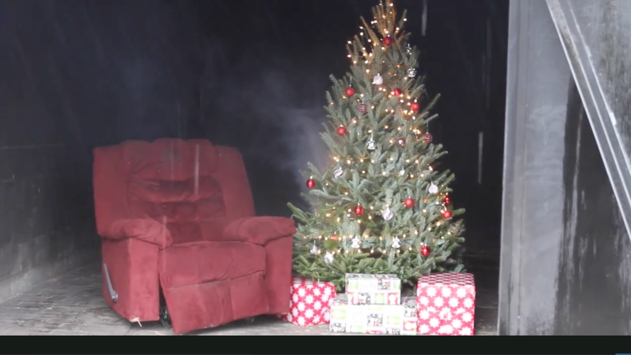 Tallahassee Fire Department warns residents about Christmas tree fires.