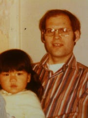 An early photo of Kristin Meekhof and her adoptive father, James Vande Vusse.