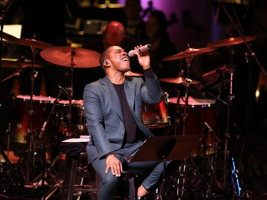 Leslie Odom Jr. performs with the Milwaukee Symphony Orchestra under the baton of conductor Yaniv Dinur at the Marcus Center for the Performing Arts.