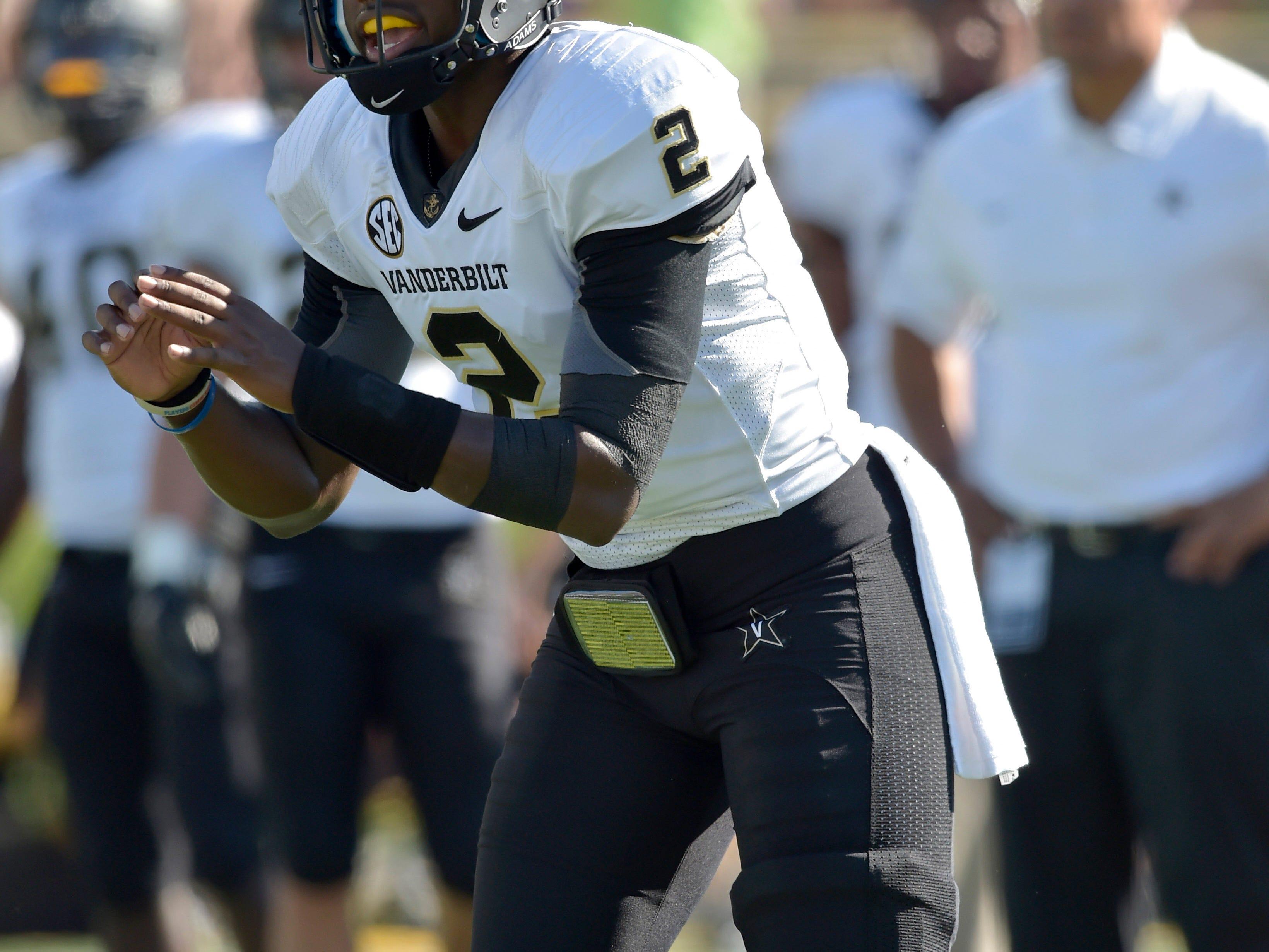 Vanderbilt quarterback Johnny McCrary made his first start at Missouri last week.