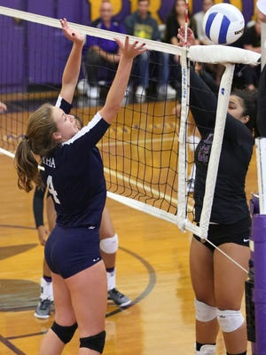 Immaculate Heart setter Julia Morris (4), shown in this Oct. 4, 2016 photo, helped her team return to the State Tournament of Champions final.
