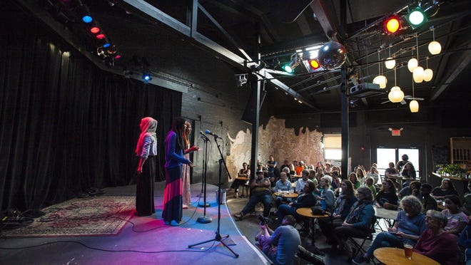Muslim Girls Making Change perform at ArtsRiot in Burlington on Tuesday, May 24, 2016.