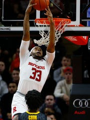 Rutgers Scarlet Knights forward Deshawn Freeman (33)