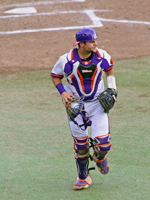 Independent Mail file photo Clemson's Chris Okey (25) during the Florida State series.