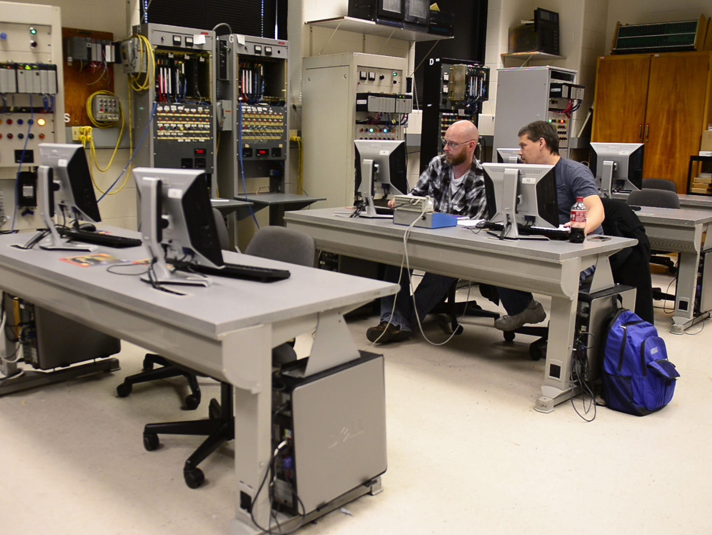 Terra State Community College students use the programmable