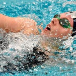 York Suburban's Carson Gross competes in the 200 yard individual medley during girls swimming action against West York at York Suburban in York, Pa. on Thursday, Feb. 4, 2016. (Dawn J. Sagert - The York Dispatch)