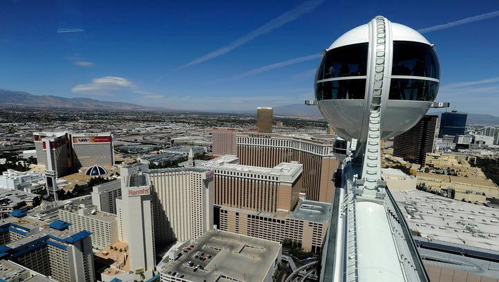 The High Roller in Las Vegas is the biggest Ferris wheel in the world.