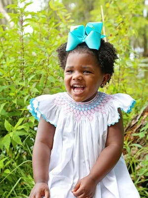Ella Grace Hall, 4, is the adopted daughter of Michele and Randy Hall.
