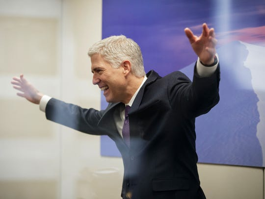 Supreme Court nominee Neil Gorsuch was barely touched