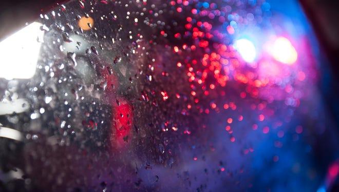 Stock photo: police lights.