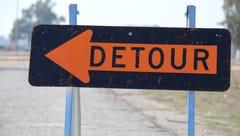 Water main break causes detour in Merrill