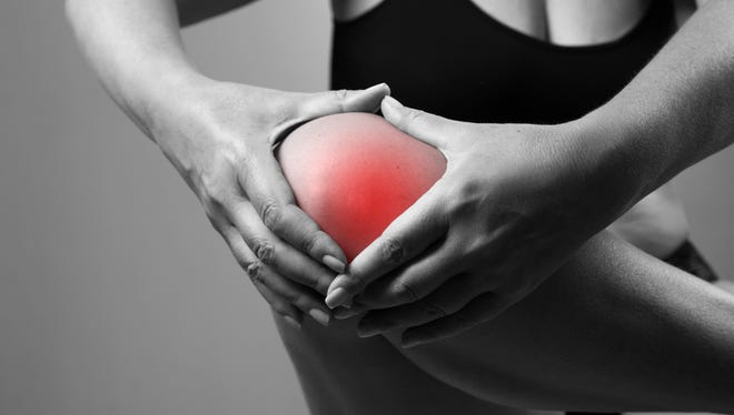 Pain in the knee.