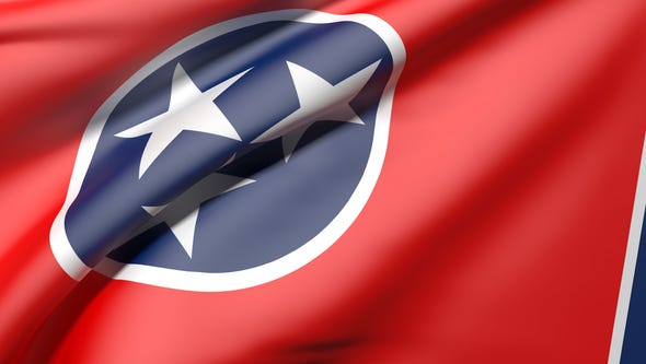 Tennessee flag waving