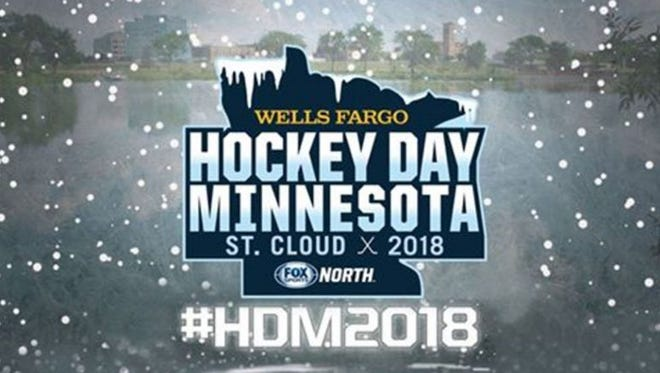 Hockey Day Minnesota 2018 logo. The Jan. 20 event will take place in St. Cloud.