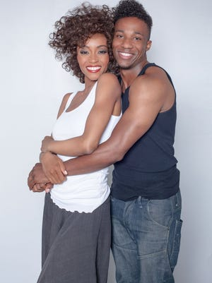 Yaya DaCosta stars as Whitney and Arlen Escarpata as Bobby Brown in the new Lifetime movie about the acclaimed singer.
