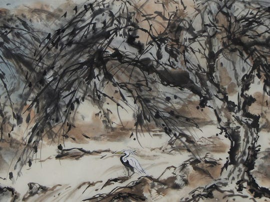My Special Place is one of the works at the Sumi-e Society of America 54th Annual Juried Exhibition.