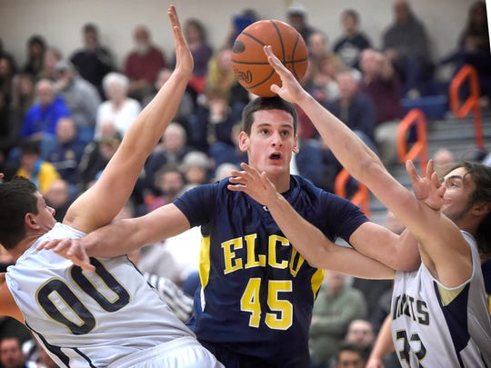 Elco junior Ryan Eshleman will be relied upon for his defense and help in the press break against Neumann-Goretti on Friday.