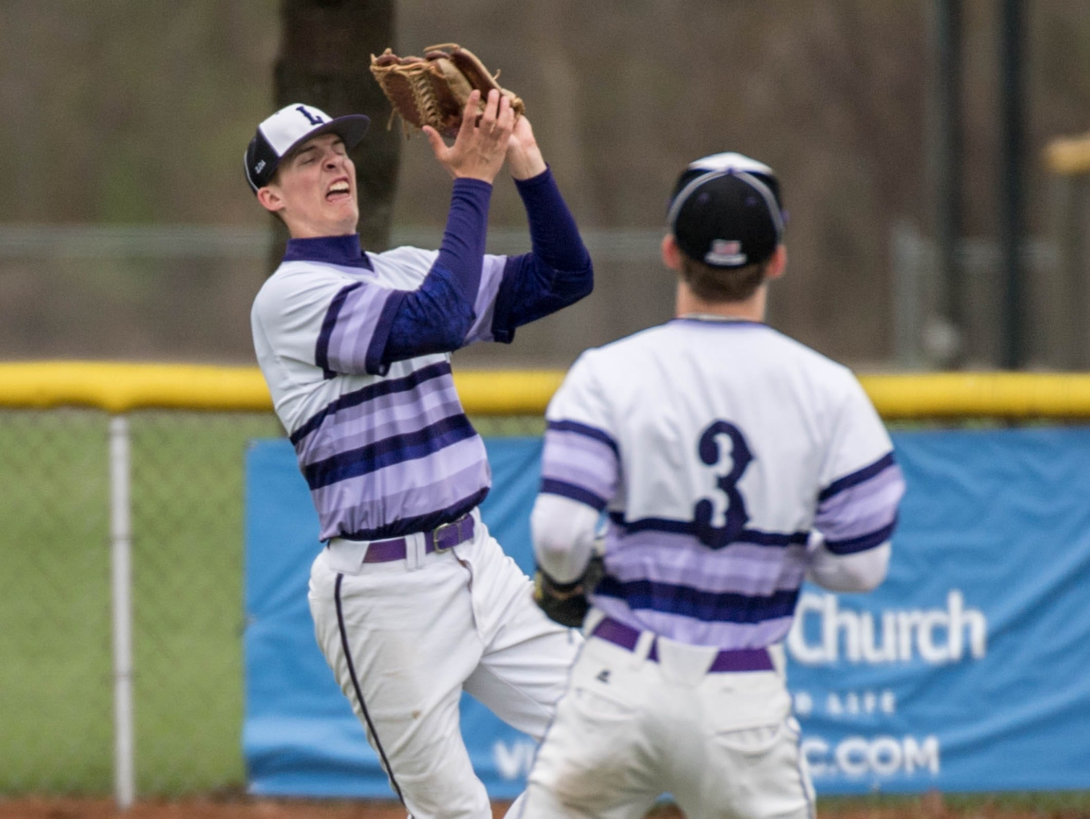 Lakeview junior Nate Jones grabs a fly ball for an out during a recent game.