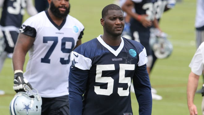 Cowboys LB Rolando McClain (55) has been suspended each of the past two offseasons.