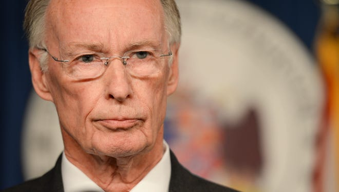 Alabama Gov. Robert Bentley, at a news conference in Montgomery on march 23, 2016, admitted  that he made inappropriate remarks to a top female staffer, but he denied accusations that he had a physical affair.