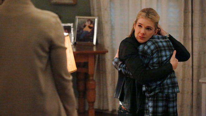 """Lily Rabe as FBI child specialist Claire Bennigan  and Kyle Harrison Breitkopf as Henry on ABC's """"The Whispers."""""""