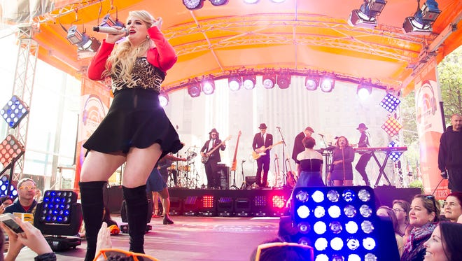 """Meghan Trainor performs on NBC's """"Today"""" show during the Toyota Summer Concert Series on May 22, 2015, in New York."""