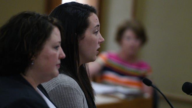Jade Elizabeth Phillips was arraigned July 31, 2017, in Sevier County Criminal Court in Sevierville, Tenn., connection with the July 14 hot-car death her toddler son in nearby Gatlinburg, Tenn.