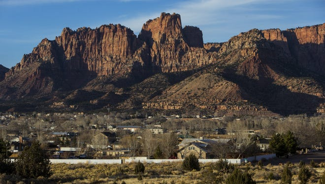 Short Creek, which is made up of Hildale, Utah and Colorado City, Arizona, is surrounded by the Canaan Mountains.