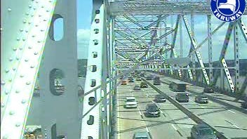 Traffic appears to be flowing normally at 2 p.m. on the Tappan Zee Bridge after state police responded July 20, 2013, to two accidents on the span.