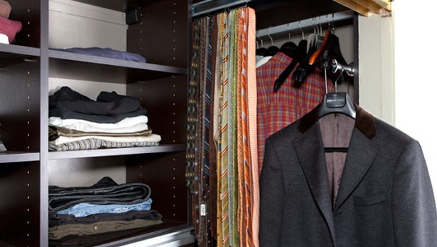 California Closets will transform your shared closet from cluttered to fashionable and functional.
