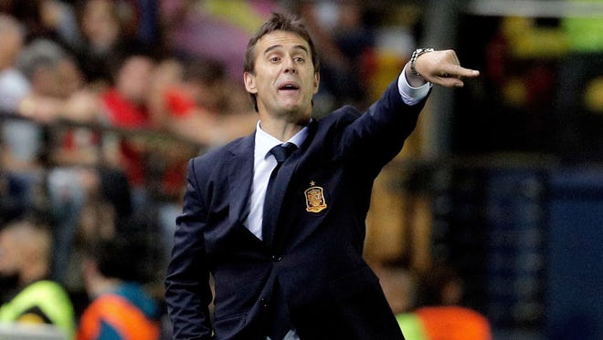 Lopetegui became Spain's coach in 2016.