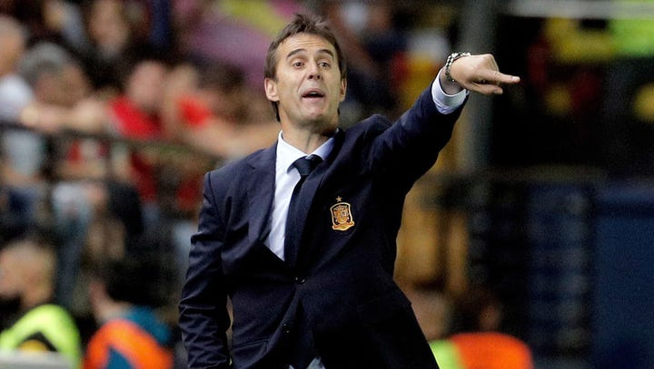 Spain fires coach Julen Lopetegui a day before World Cup begins
