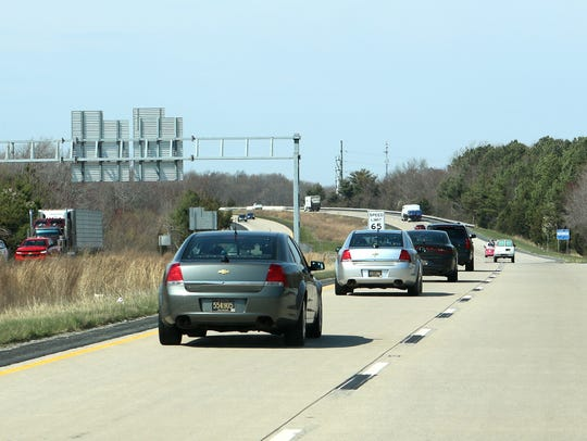 Four Delaware State Police unmarked cars were out Thursday