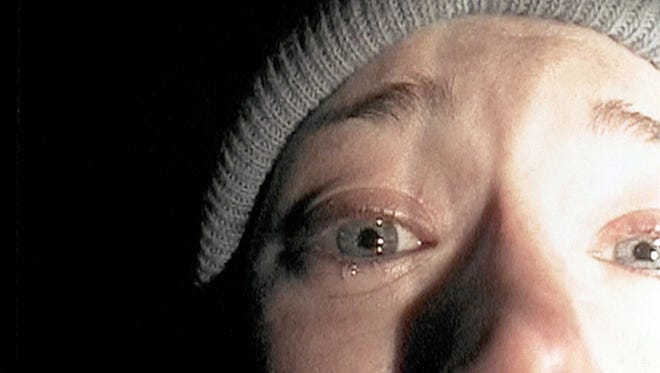 Heather Donahue turns the camera on herself for her confession in 1999's 'The Blair Witch Project.'