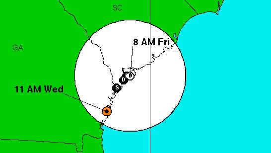 Tropical Storm Julia formed along the Georgia coast today.