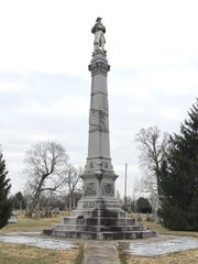 A Confederate monument at Mt. Olivet Cemetery in Nashville