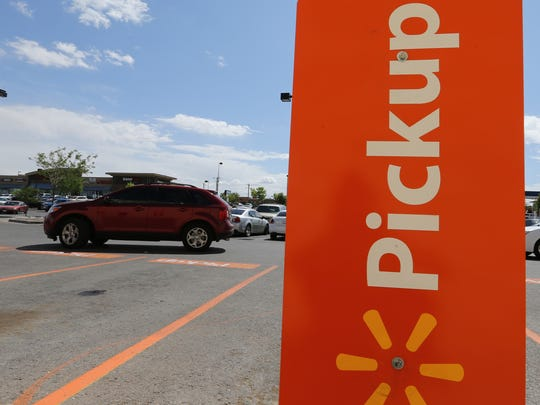 Wal-Mart has reserved parking spots for customers using the new pickup service.