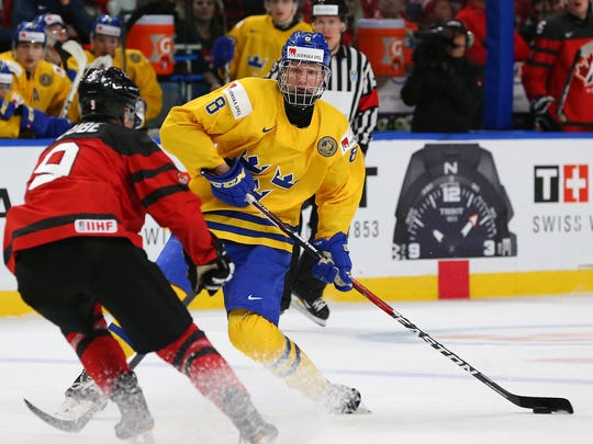 the latest 6da32 8cc90 NHL Draft: Sabres sweet skating Swede Ramus Dahlin No. 1 ...
