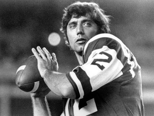 New York Jets quarterback Joe Namath in 1970.