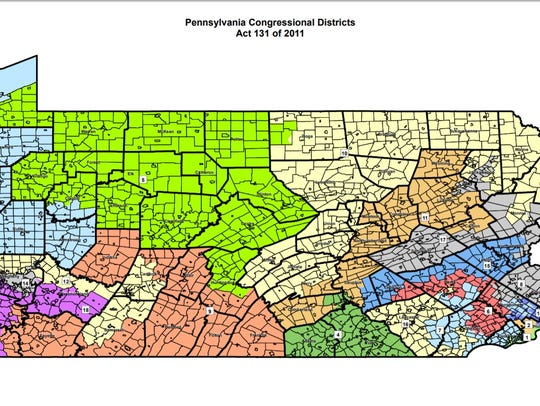 Pennsylvania's current congressional map.