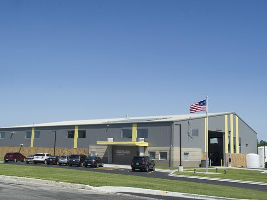 The new county highway department buildings at 284 Industrial Parkway in Campbellsport.