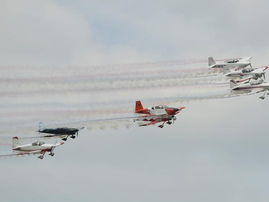 Planes perform at the Wings Over Halls air show at the Dyersburg Army Air Base's Arnold Field in this 2014 file photo.