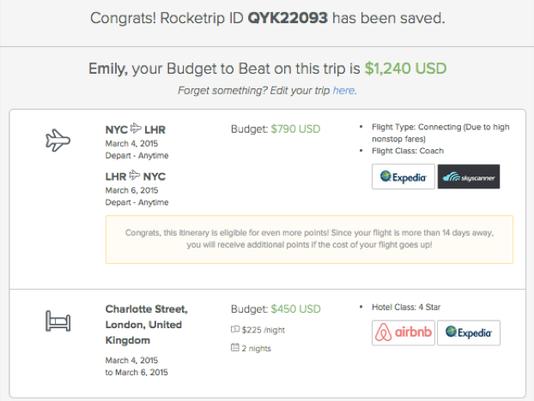 program rewards business travelers for spending less