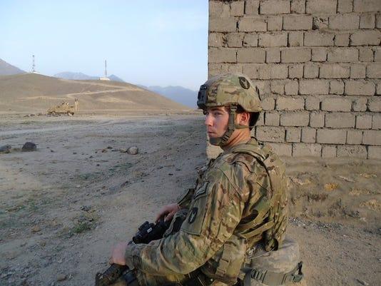Jacob Hutchinson on patrol